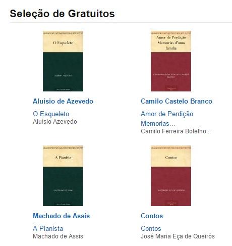 Ebooks gratuitos Amazon clássicos