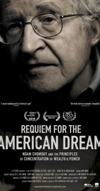Capa do documentário Requiem for the american dream, de Noam Chomsky